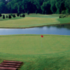 A view of the island green at Forrest Crossing Golf Club