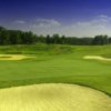 A view of green #11 protected by bunkers at Legacy Golf Course